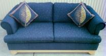 RECOVERED SOFA  IN  WARWICK  FABRICS